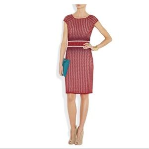 Missoni Red Textured Knit Dress 46/12 EXCELLENT